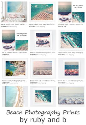 If you're looking for beach art with navy or turquoise accents, then look no further. Enjoy beach umbrella photography and other beach art by Ruby and B!