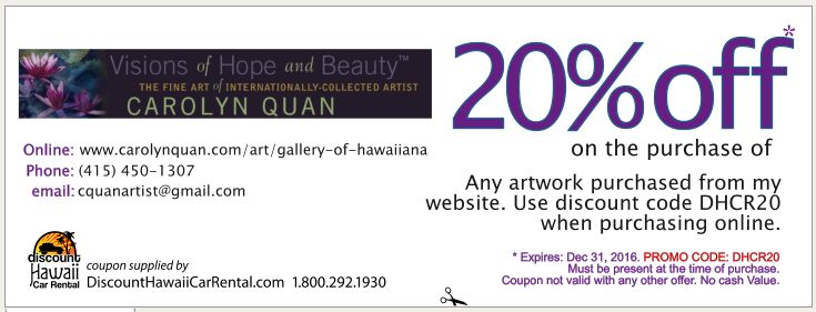 Maui discount coupons