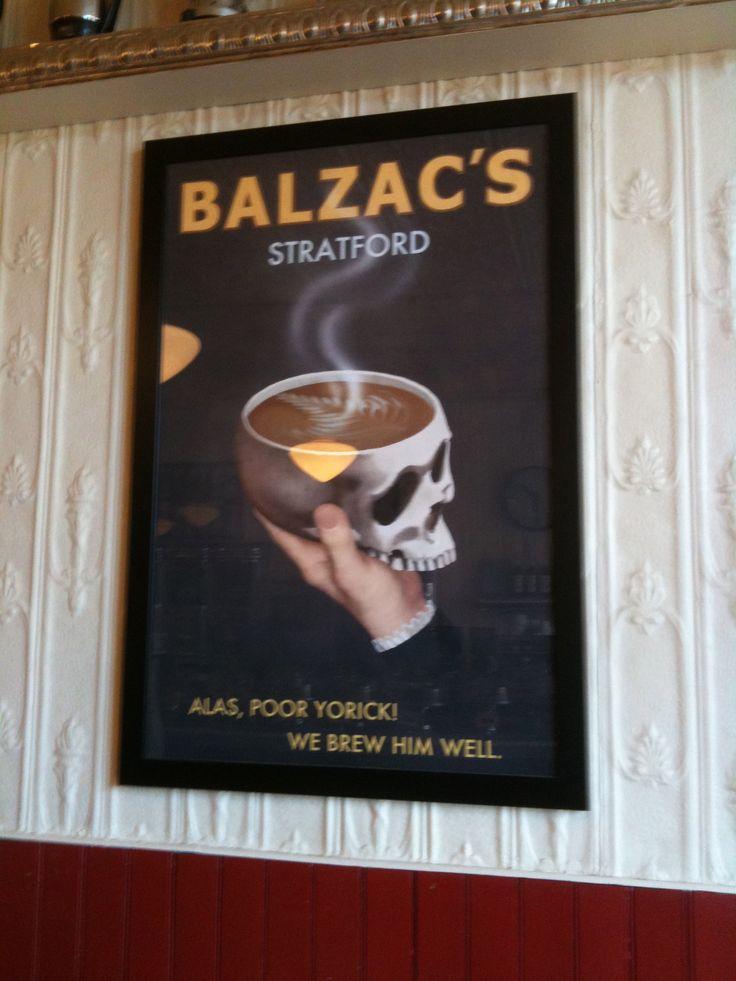 Balzac's in Stratford, Ontario. Best place to get coffee! Mmmm iced frappe dbl espresso shot mmm...