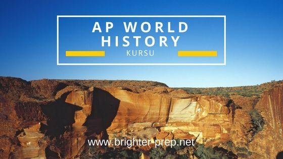 AP World History Kursu - AP Dünya Tarihi Kursu, kurs boyunca keşfedecekleri beş temayı içermektedir. AP World History Kursu 8000 B.C.E. den günümüze uzanır.