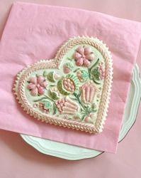 springerle flower heart cookie mold 5112