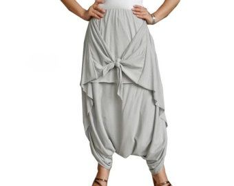 Popular items for womens harem pants on Etsy www.etsy.com - 340 × 270 - Search by image Women Smart Skirt/Pant, Comfortable,Unique Styling Wide Leg Cotton Jersey In ...