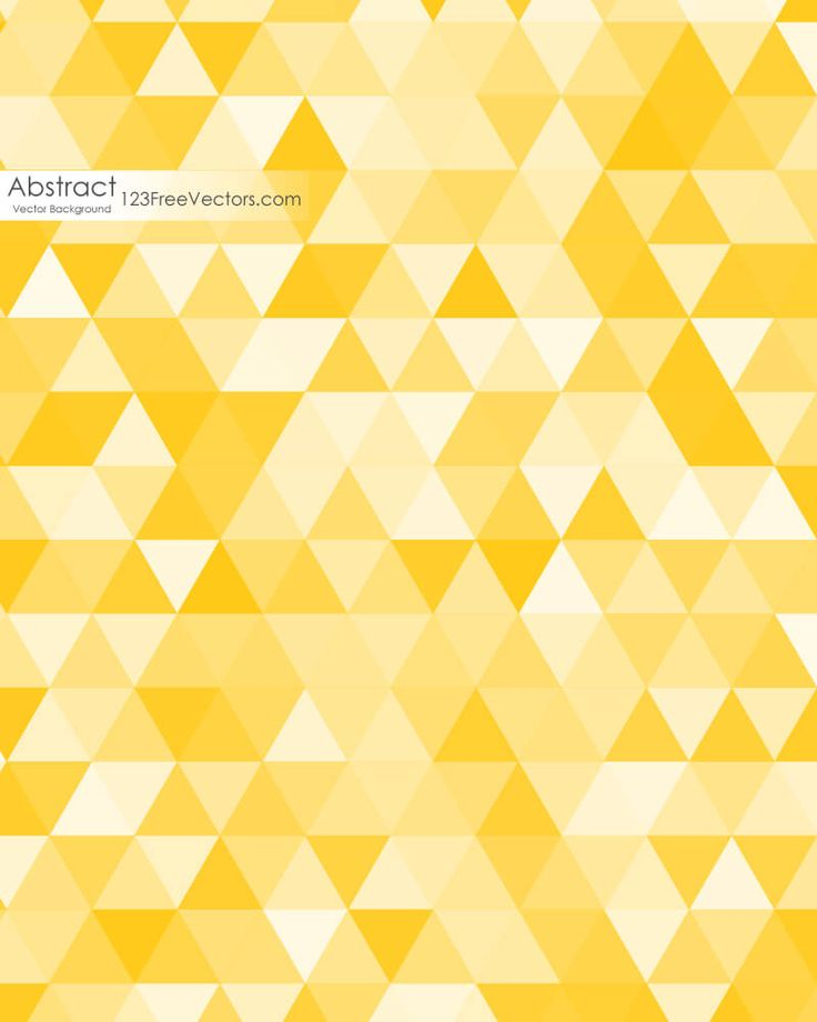Yellow Triangle Background