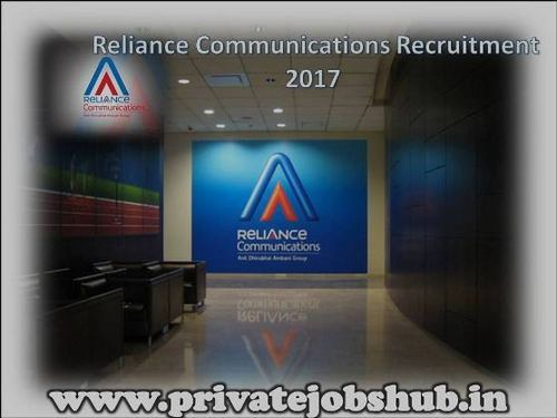 Reliance Communications has notified a current job notification about Reliance Communications Recruitment all over India. Organization wants to hire skilled and goal oriented candidates to fill up various Reliance Communication Job Openings. http://www.privatejobshub.in