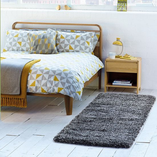 Yellow Skandi Geometric Collection Duvet Cover Set | Dunelm