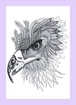 Take A Closer Look At My Animal Doodles That Includes Birds Peacocks Giraffes And Dreamy Horse Can By Found In Coloring Book For Adults Healing