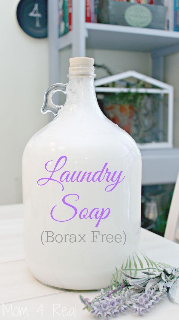 Homemade Laundry Soap - Borax Free