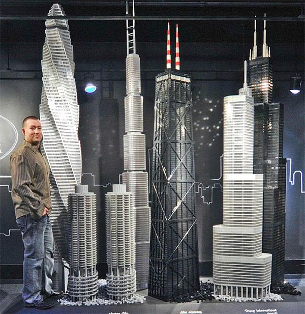 Think you are The Man because you built some two foot tall LEGO castle? That's nothing. Adam Reed Tucker has built some of the world's tallest skyscrapers and other buildings using millions of LEGO bricks. Adam is one of the world's eleven LEGO Certified Professionals, so for him, I guess this was not that big of a deal.