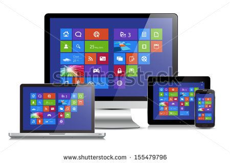 This image is a vector file representing a metro interface design concept on various media devices. / Metro Interface Media / Metro Interface Media