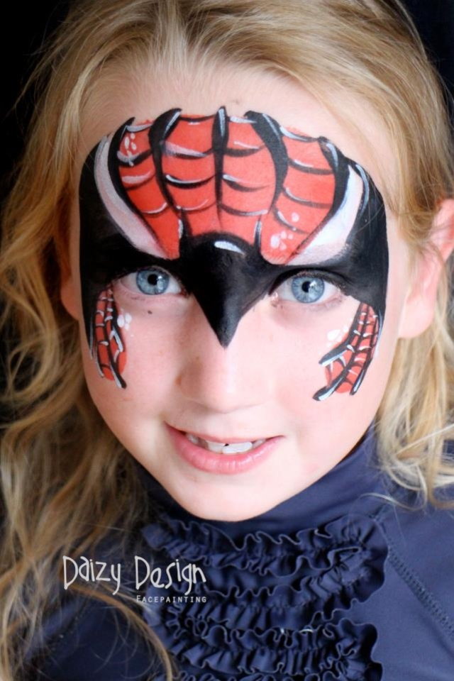 bat or spider super hero face paint easy face paintingpainting ideas for kidshalloween - Halloween Face Paint Ideas For Children