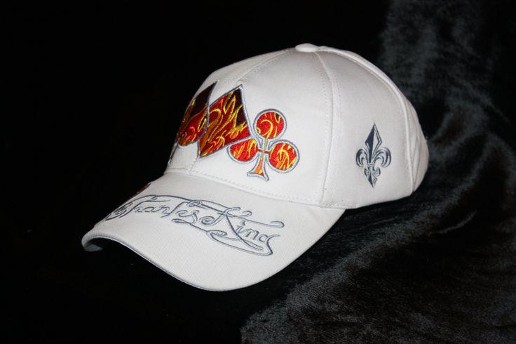 White Baseball Cap Poker Glam Urban Wear Rock Clothing Trucker Hats Men by CharlesKingParis on Etsy