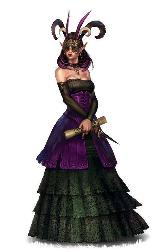 Female Aristocrat Noble Mesmerist - Pathfinder PFRPG DND D ...