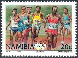 Stamp: Runners (Namibia) (Olympic Games) Mi:NA 727,Sn:NA 718,Yt:NA 683