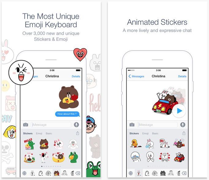 Free Emoji Keyboard app for iOS (not jailbreak tweak) - over 3,000 new and unique Stickers, animated Stickers & Emoji