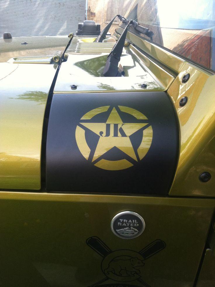 Cowl Hood Decal Wrap Jeep Wrangler Pinterest See