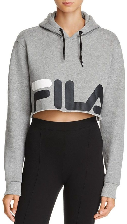 f131e425e178 Fila Pam Hoodie #fila | Wardrobe in 2019 | Fila outfit, Cropped ...