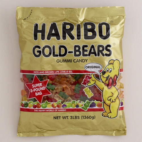 One of my favorite discoveries at WorldMarket.com: Haribo Gold Bears, 3 lb. Bag