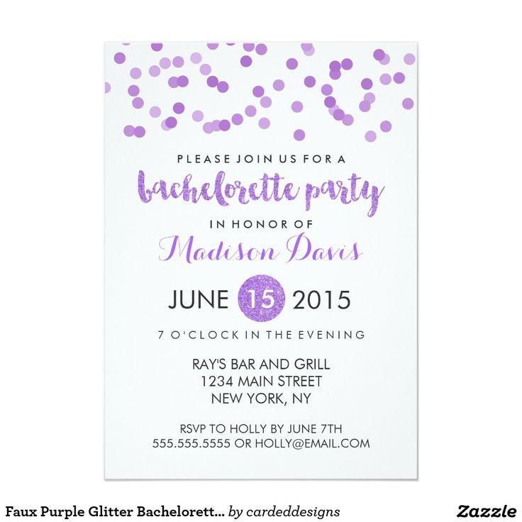 Faux Purple Glitter Bachelorette Party
