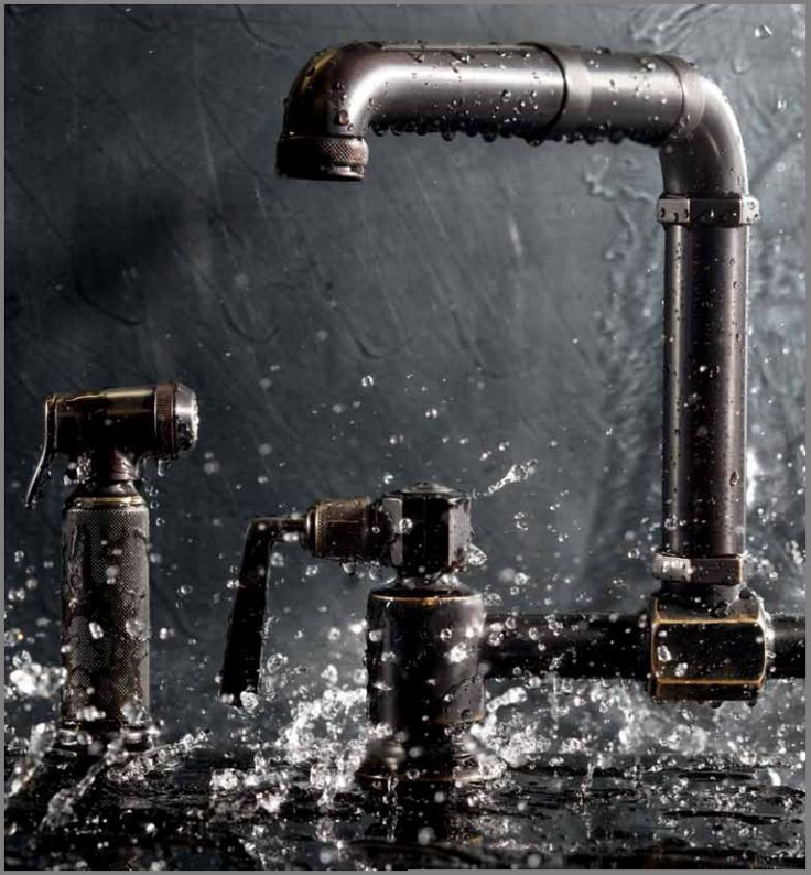 #Steampunk style from Waterworks Bridge two whole #kitchen mixer (faucet).