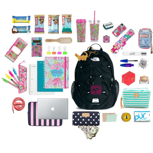 What's in my Backpack? by gracesays on Polyvore featuring The North Face, Lilly Pulitzer, J.Crew, Jack Wills, H&M, Maybelline, philosophy, Tory Burch, Philip Kingsley and Urbanears