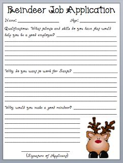 What the Teacher Wants!: Reindeer Job Application