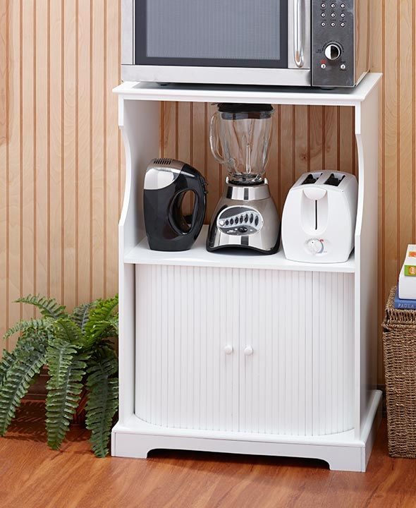 The Microwave Stand With Storage Keeps Kitchen Clutter To A Minimum It Offers Ample