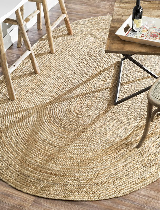 Oval jute area rug. All Natural. Comes in round sizes as well. #http://www.naturalarearugs.com/jute-area-rugs/