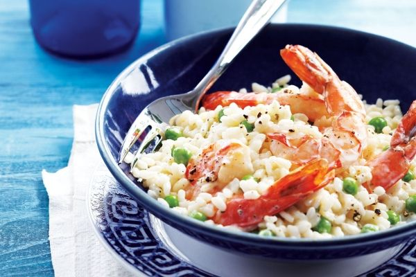 Creamy Herbed Risotto With Shrimp