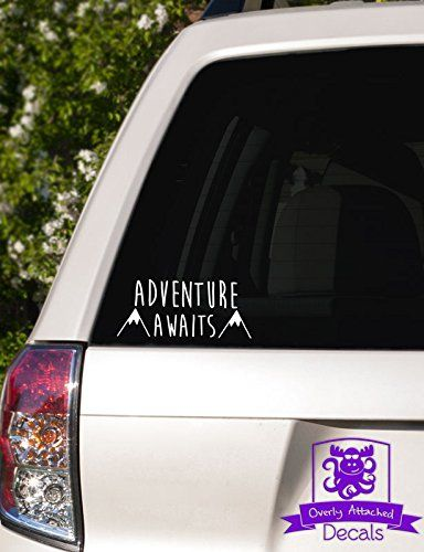 "Adventure Awaits Mountains Car Decal - 6"" White Overly Attached Decals http://www.amazon.com/dp/B00OZ9UIEK/ref=cm_sw_r_pi_dp_UrVfxb07T5301"