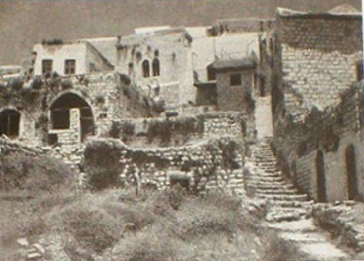 SAFAD - Palestinian houses for demolition in Safad, early 1960s