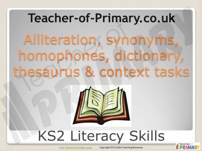 Dictionary lesson ks2