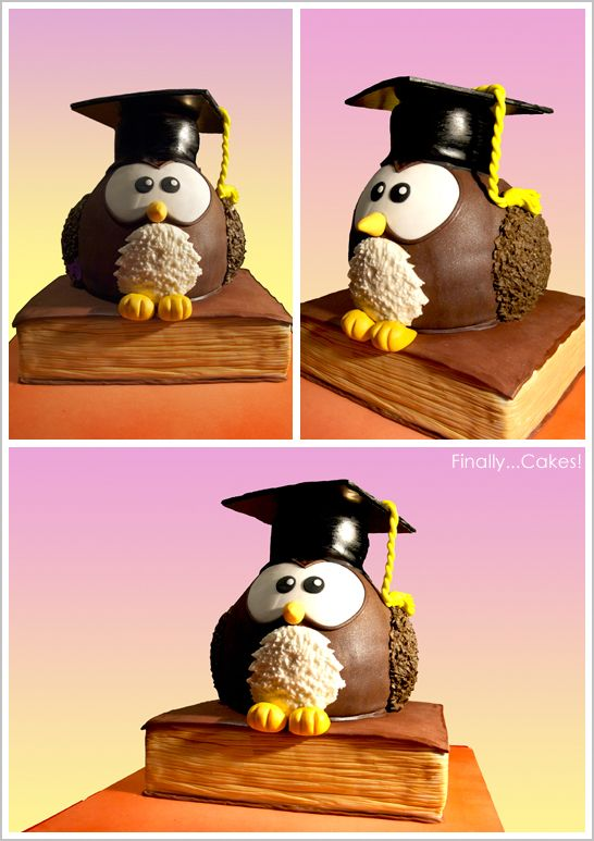 Graduation Owl Cake - Would be so stink in cute for Kenzie's preschool graduation!
