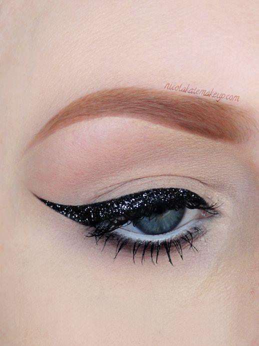 Nicola Kate Makeup: Black Glitter Liner Revisited!