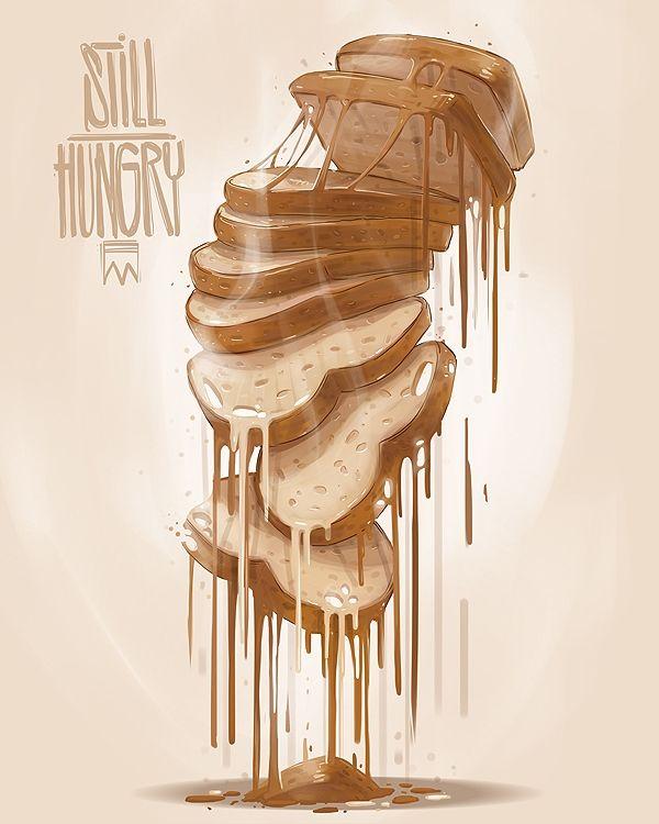Les illustrations de nourriture de Georgi Dimitrov