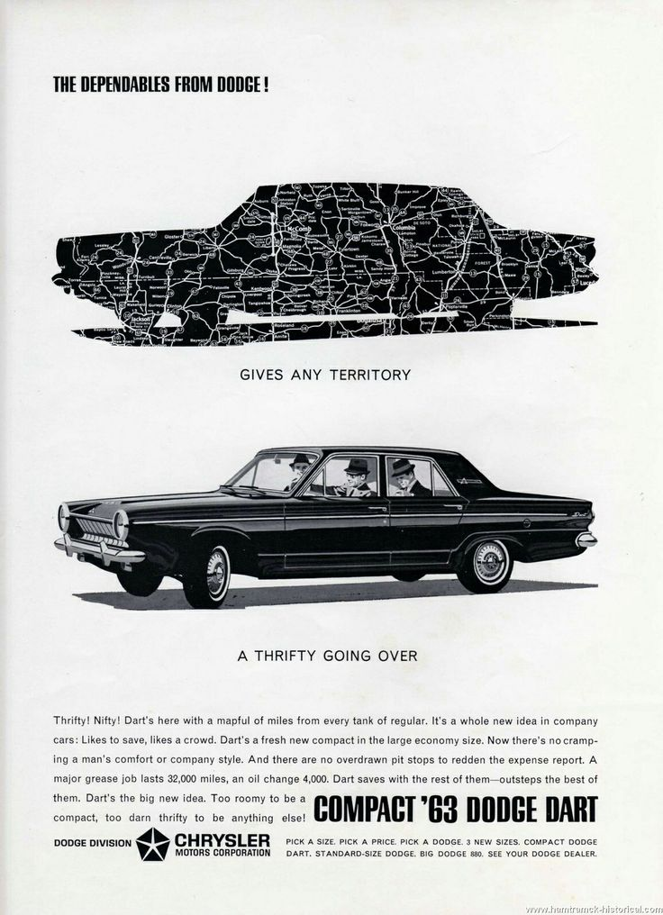 1963- Or 1964 Dodge Dart Ad