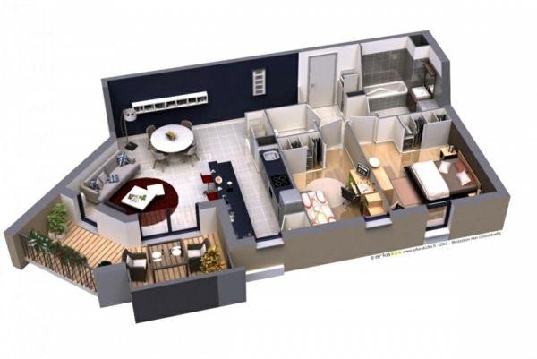 Plan Maison 3d D Appartement 2 Pieces En 60 Exemples Decorations Pour La Maison Plan Maison 3d Plan Maison Logiciel Plan Maison Gratuit