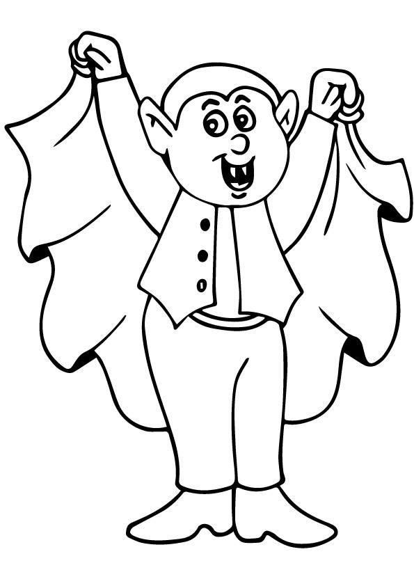 Vampire Coloring Pages For Kids Bat Coloring Pages Halloween Coloring Halloween Coloring Pages