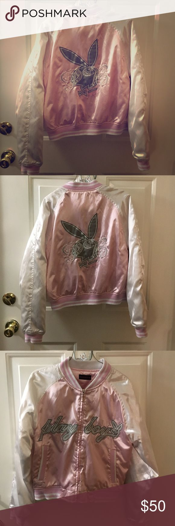 Classic Playboy Pink & White Satin Jacket Cute & Classic... Make an offer PLAYBOY Jackets & Coats Puffers