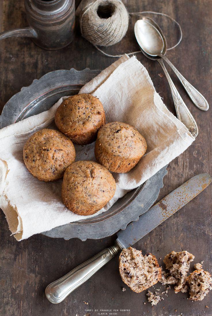 Muffins al farro, olio d'oliva e cioccolato