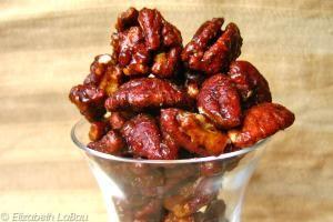 Sweet and Spicy Candied Pecans - (c) Elizabeth LaBau