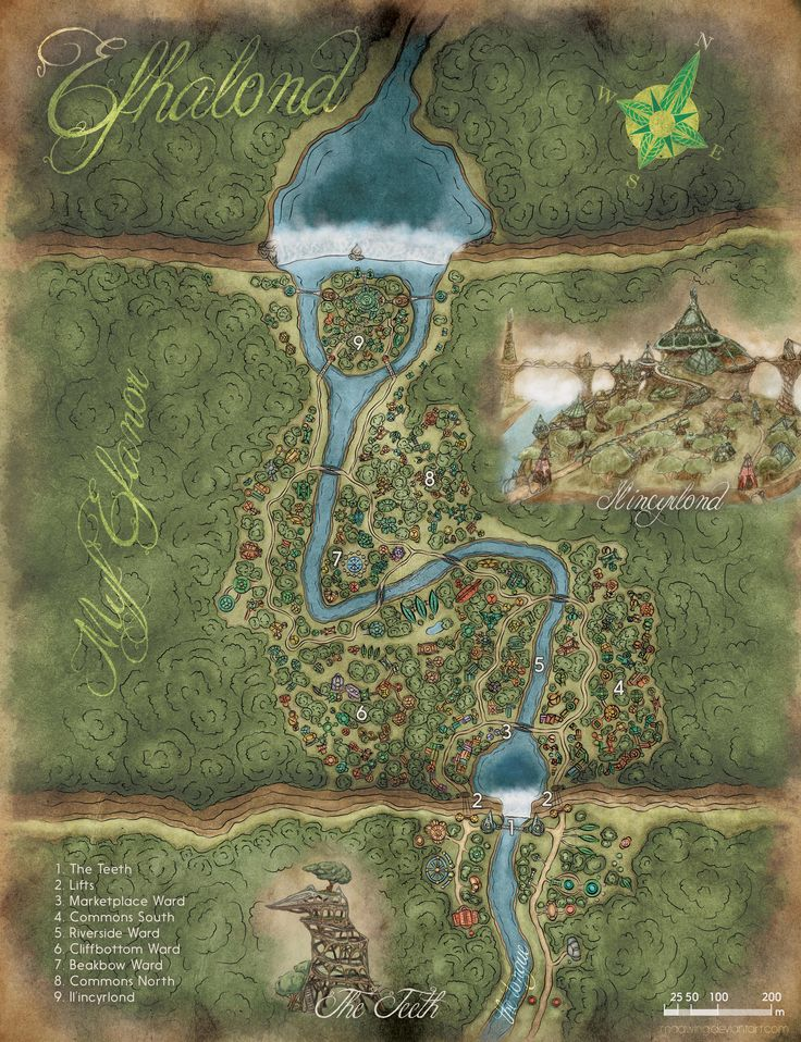 The Elven City of Efhalond x post from