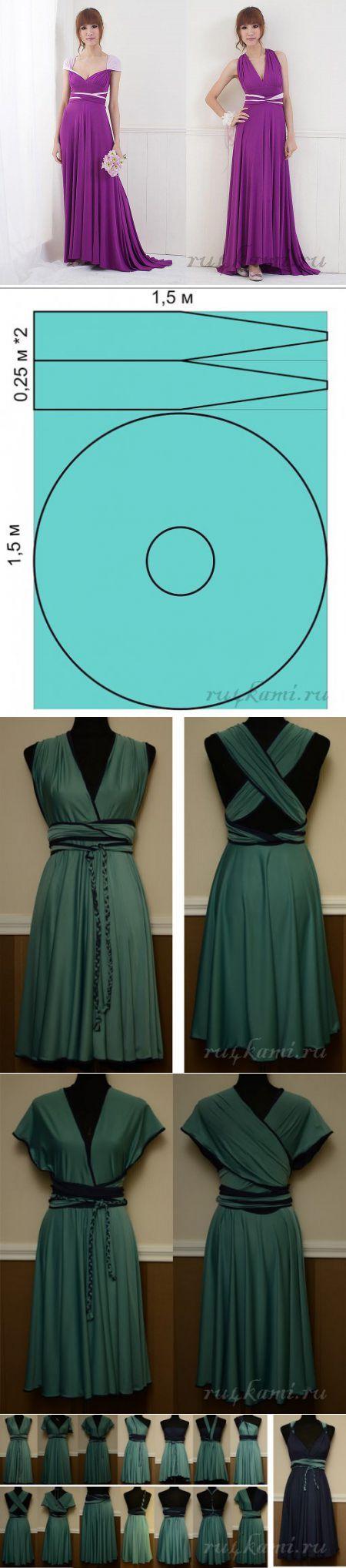 Платье трансформер своими руками » Сайт 'Ручками' - делаем вещи своими руками