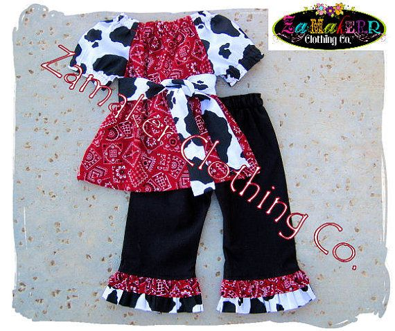 Hey, I found this really awesome Etsy listing at https://www.etsy.com/listing/99773465/girl-cow-outfit-set-girl-farm-birthday