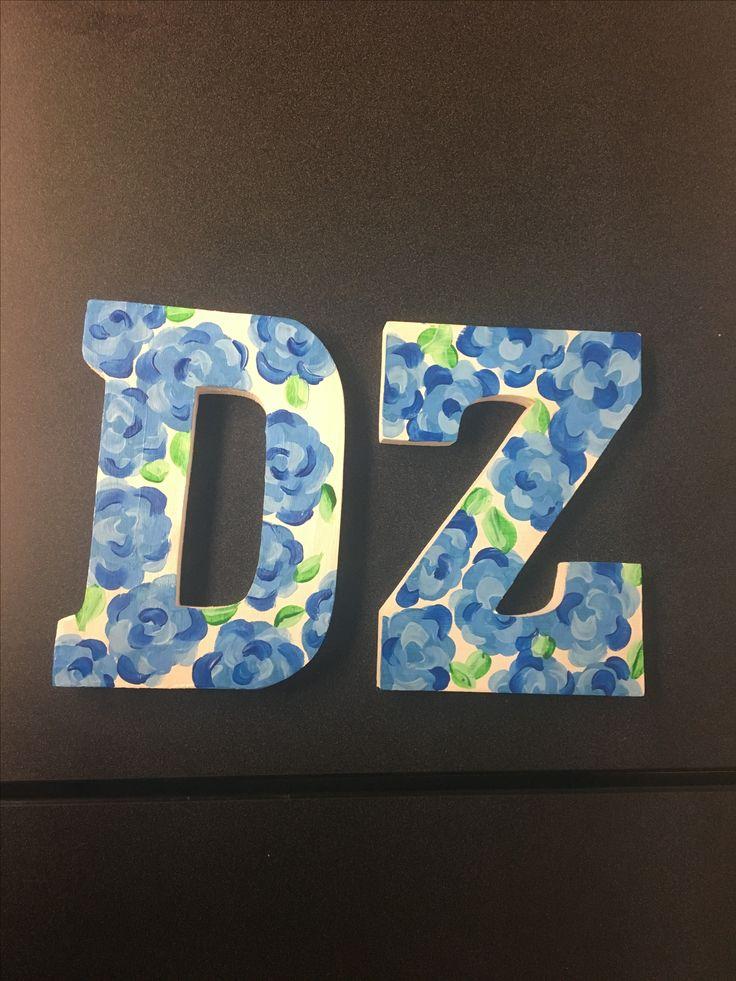 Delta Zeta painted letters