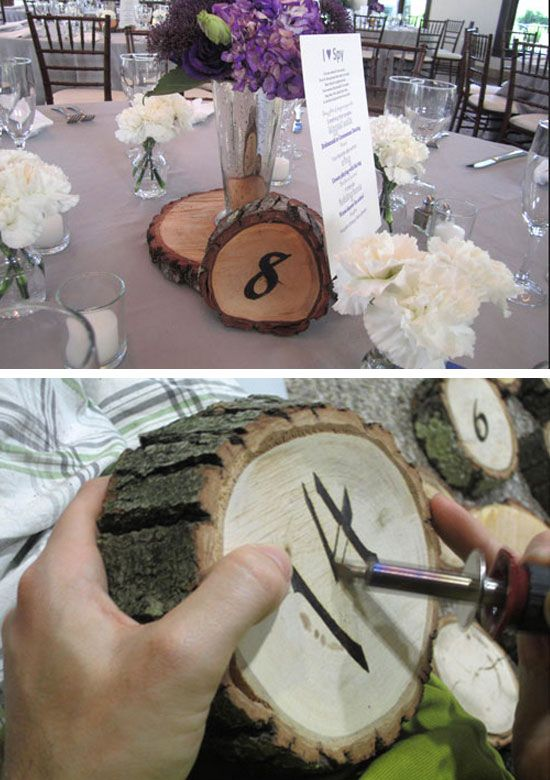 DIY Rustic Table Numbers Tutorial | Click for 18 DIY Rustic Wedding Ideas on a Budget | DIY Rustic Wedding Centerpieces