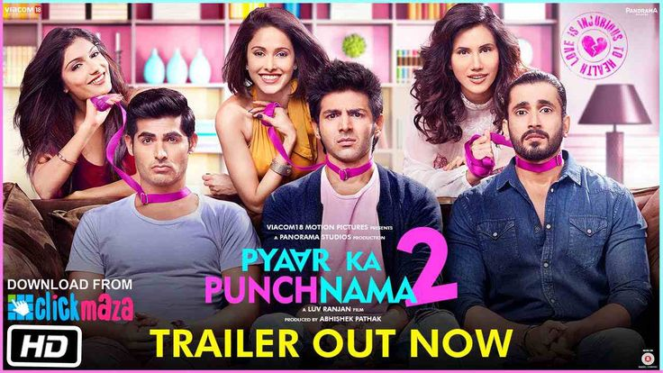 Ratings: 8.5 Directed By: Luv Ranjan Pyaar Ka Punchnama 2 (2015) Download Released On: 16 October 2015 Genre(s): Comedy, Drama, Romance Movie Star Cast: Sunny Singh Nijjar, Sonalli Sehgal, Ishita Sharma Synopsis: After falling in love, three roommates experience changes in their lives.
