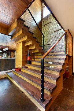 Serene City Dwelling - contemporary - Staircase - Grand Rapids - Scott Christopher Homes/Surpass Renovations