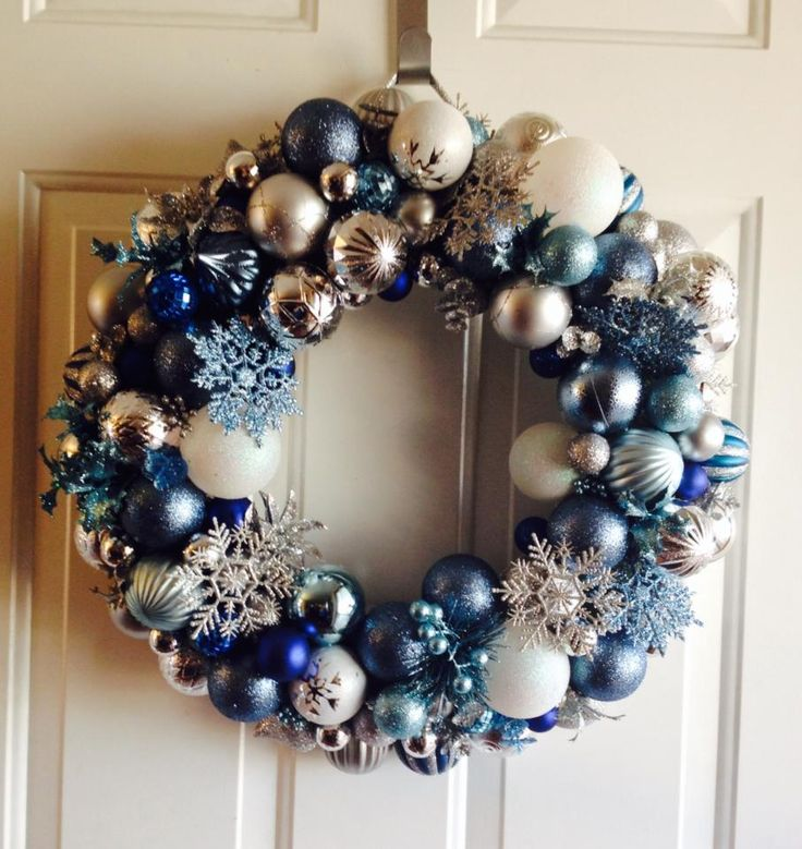 Frozen Inspired Ornament Wreath