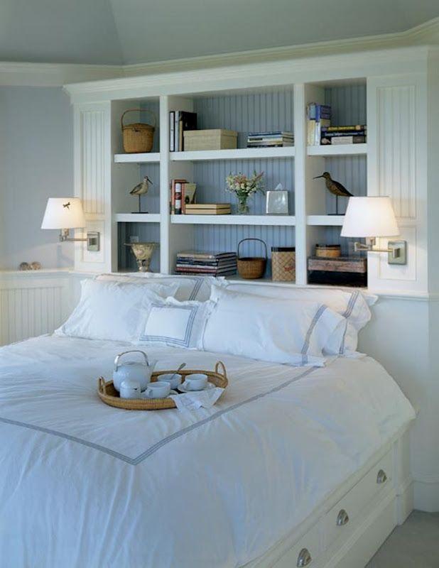 25 Best Ideas About Bed Shelves On Pinterest Headboard