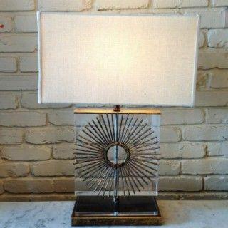 Love this lamp from Nancy Price in Jackson, MS! #lamp #lucite #sunburst